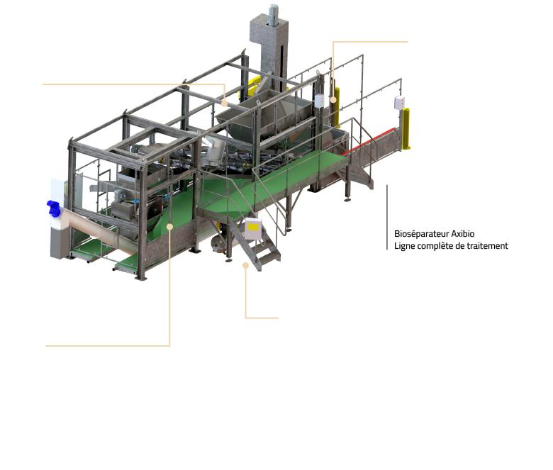 Ligne de traitement 1200 kg/h schema